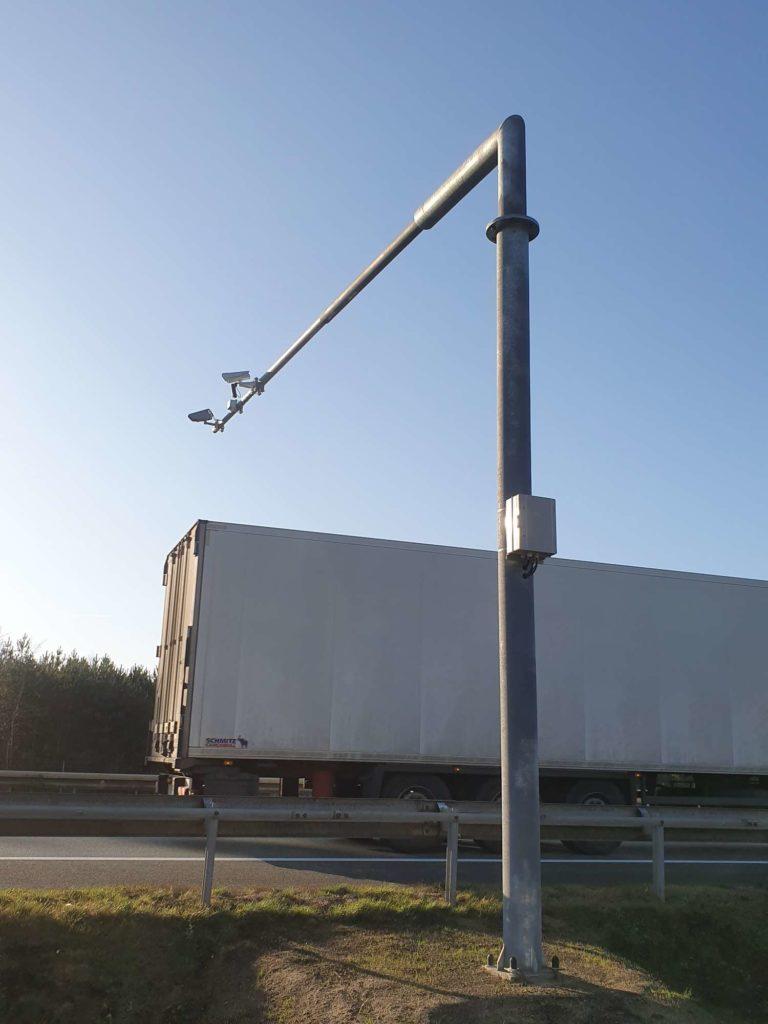 System kontroli zakazu wyprzedzania przez pojazdy ciężarowe